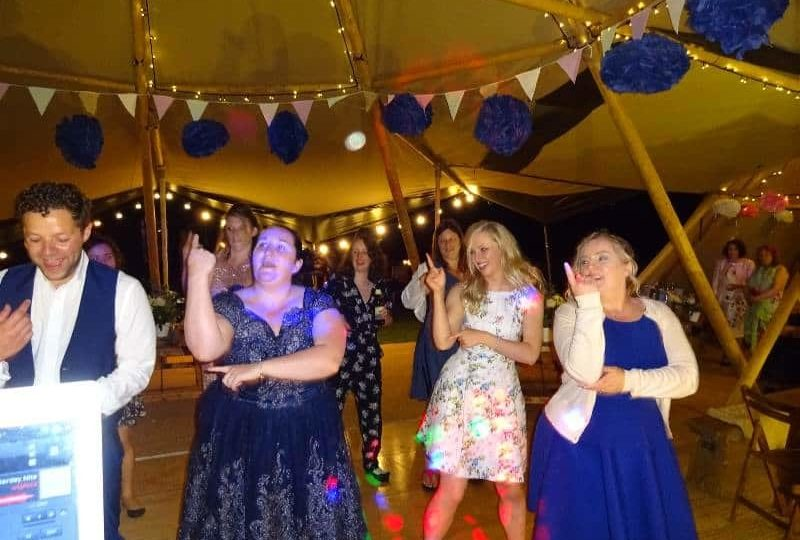 mobile disco hire Wedding Disco Tipi Norfolk Karaoke Party