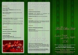 mobile disco hire Thomas-Paine-Christmas-Menu