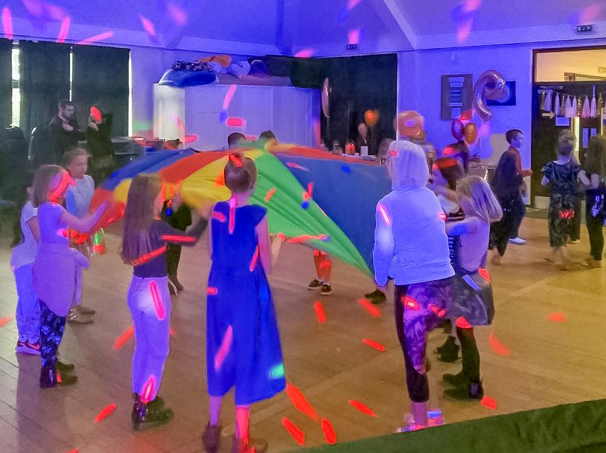 kids UV disco cloverfields church thetford mindys disco